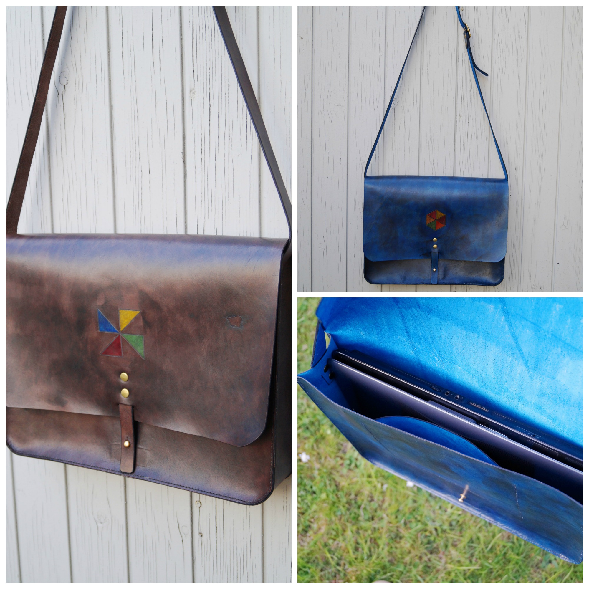 Handmade leather messenger from TeLeather